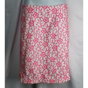 Lilly Pulitzer Pink Floral Skirt Size 4